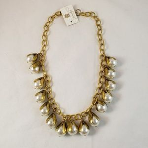 S Jewelry Collection Faux Pearl Statement Necklace